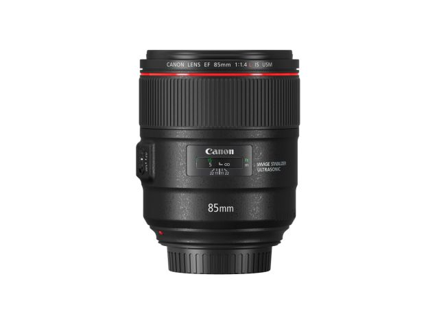 EF85mm F1 4L IS USM Side With Cap
